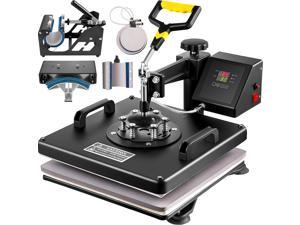 VEVOR 6 in 1 15X15Inch Heat Press  Heat Press Machine Swing Away Multifunctional Heat Press Machine for T-Shirts Hat Mug Plate Cap