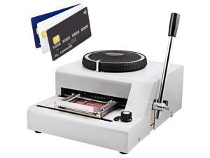VEVOR 72-Character Manual Embosser Card Embossing Machine PVC/ID/Credit Card Stamping Machine Code Printer for PVC Card Credit ID VIP