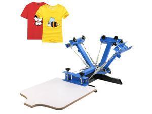 VEVOR Screen Printing Machine Silk Screen Printing Machine Screen Printing Press 4 Color 1 Station Removable Pallet Special Design (4 Color 1 Station)