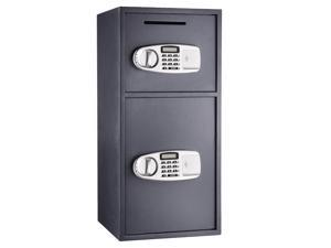 VEVOR Depository Safe Double Door Digital Depository Drop Safe with Drop Slot Safe Cash Drop Box for Home and Office Security
