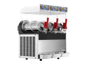 VEVOR Slush Slushy Making Machine 15L x 3 Tanks Frozen Drink Slush Machine Commercial Smoothie Maker with Spigot