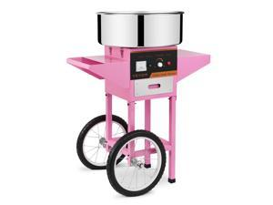 VEVOR Electric Cotton Candy Machine with Cart Cotton Candy Maker for Kids Commercial Cotton Candy Machine Kit 110V Perfect for Various Parties