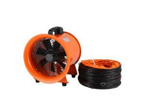 VEVOR Utility Blower 12 Inch 0.7HP 2295 CFM 3300 RPM Portable Ventilator High Velocity Utility Blower Fan New Style Stand Ventilator Fume Extractor with 5M Duct Hose