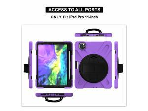 Shoulder Strap 360 Rotation Stand Shockproof Tablet Cover for iPadpro iPad Pro 11 Pro11 2021 2018 2020 Case Silicone PC Shell