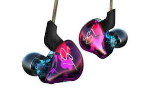 New Arrived KZ ZST Balanced Armature+Dynamic Hybrid Dual Driver Earphones In Ear Earphone  Hybrid Headset HIFI Bass Noise Cancelling Earbuds( No Mic version)