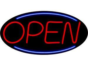 LARGE LED Open Sign With Remote! Very Bright! BD24-3 (24x12) Red & Blue