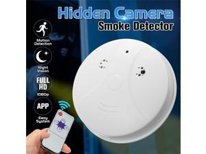 HD 1080P Smoke Detector Fire Alarm Detector with Hidden Camera Independent Smoke Alarm Sensor for Home Office Security Photoelectric Smoke Alarm
