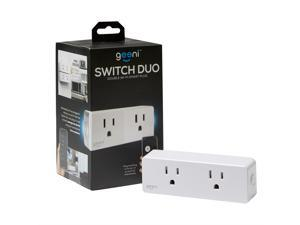 Geeni Switch Duo Double Wifi Smart Plug, Amazon Alexa / Google Assistant Compatible