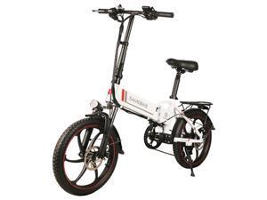 Samebike 20LVXD30 Portable Folding Smart Electric Moped Bike 350W Motor Max 35km/h 20 Inch Tire-White 362601