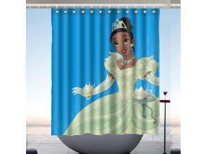 Princess Tiana Design Polyester Fabric Bath Shower Curtain 60x72 Inch