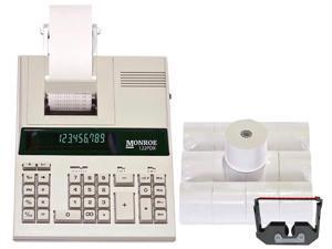 Certified Refurbished 1 Monroe 122PDX Medium-Duty 12-Digit Print//Display Calculator With The Fastest Printing Speed