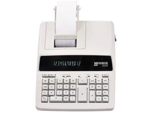 Monroe 6120X 12-Digit Print/Display Business Medium-Duty Printing Calculator in Ivory