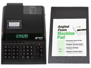 Monroe 8145X 14-Digit Printing Calculator / Adding Machine With Foam Elevation Wedge