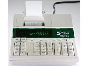 Monroe 2020PlusX 12-Digit Medium-Duty Color Printing Calculator / Adding Machine in Ivory
