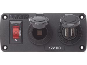 Off-on Red 20a Stain. Blue Sea Systems 4192 Push Switch