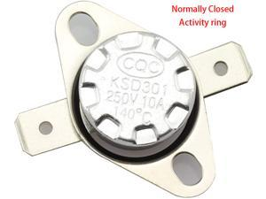 5PCS KSD301 DegC 140 Thermal Control Switch 250V 10A Normally Closed NC Thermostat Temperature Switch