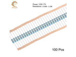 1/2W 1% 30K OHM 100PCS 1/2W 1% Metal film resistor 1R ~ 2.2M