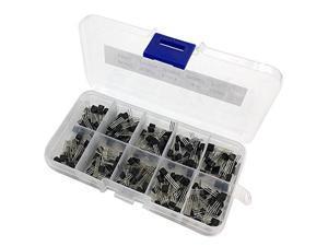 Transistor kit,200pcs BC337 BC327 2N2222 2N2907 2N3904 2N3906 S8050 S8550 A1015 C1815 Transistor Assortment Kit 10value 200PCS,Transistors Box Pack