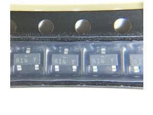 100PCS FAIRCHILD SEMICONDUCTOR MMBD1504A A14 SMALL SIGNAL DIODE, 200V 200mA SOT-23