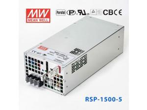 RSP-1500-5 1500W 5V240A single output with power factor correction can be connected in parallel with Mingwei switching power supply