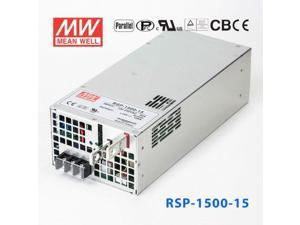 RSP-1500-15 1500W 15V100A single output with power factor correction can be connected in parallel with Mean Well switching power supply