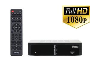 Digital Converter Box for TV w/ RCA Cable for Recording and Viewing Full HD Digital Channels FREE (Instant or Scheduled Recording, 1080P HDTV, HDMI Output, 7 Day Program Guide)