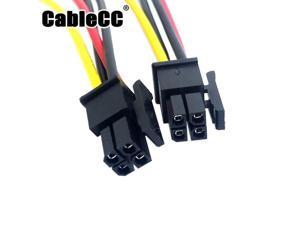 Cablecc  ATX Molex Micro Fit Connector 4Pin Male to Male Power Cable 60cm