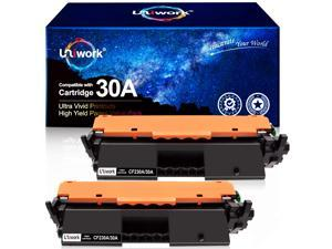 Compatible Toner Cartridge Replacement for HP 30A CF230A 30X CF230X use with Laserjet Pro MFP M203dw M227fdw M227fdn M203d M203dn M227sdn M227 M203 Printer, 2 Black