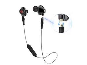 f024e0edd03 Qidoou Bluetooth Earphones Wireless Sports Earbuds T4 Compatible  Smartphones, in-Ear Headphones with Build