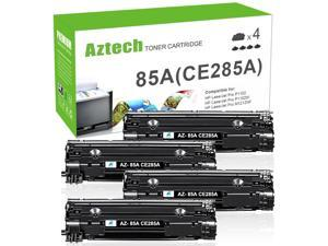 Compatible Toner Cartridge Replacement for CE285A 85A CE285 Laserjet Pro P1102W M1212nf M1217nfw P1100 M1210 (Black, 4-Pack)