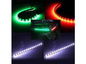 Boat Bow LED Navigation (STERN & BOW) Light Kit, Red, Green, and White Strips for Bass boats, Waterproof