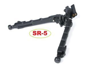 Bipod GBO (SR-5) QD Black Tactical Bipod 7.25 - 9 inches Flat Pan Tilt