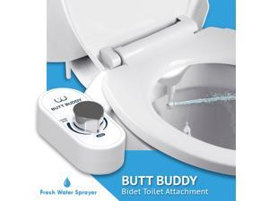 BUTT BUDDY - Bidet Toilet Seat Attachment & Fresh Water Sprayer (Easy to Install | Non-Electric | Self-Cleaning Nozzle | Gentle Wash | Healthy Life, Sanitary Bathroom)
