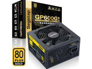 Segotep Gp600g Black Gold Edition Rated 500W Desktop Computer Power Supply Width / Back CABLE
