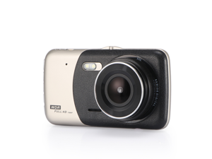 KINGZONE 4 Inch IPS HD 1080P Car Dash Cam Front And Rear Dual Lens Support Reversing Image