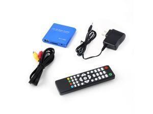 US Plug Mini 1080P HD Media Player Multi-function support RMV MP4 AVI FLV Player MKV/H.264/RMVB Full HD With HOST USB Card Reader-Blue