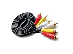 1.5m 4.9ft 3RCA TO 3RCA male to male Gold plated connector Audio video ATV AV cable
