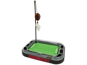 NFL Tampa Bay Buccaneers CAT Scratcher Toy with Catnip Plush & Feather Cat and Kitty Toy
