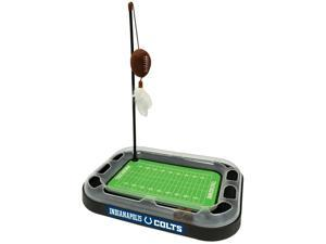 NFL Indianapolis Colts CAT Scratcher Toy with Catnip Plush & Feather Cat and Kitty Toy