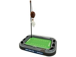 NFL New England Patriots CAT Scratcher Toy with Catnip Plush & Feather Cat and Kitty Toy