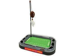 NFL Kansas City Chiefs CAT Scratcher Toy with Catnip Plush & Feather Cat and Kitty Toy
