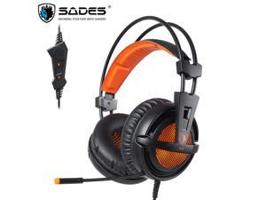 SADES A6 USB 7.1Virtual Surround Sound Headset Game Headset Over Ear For PC, Laptop