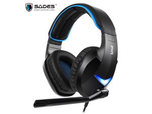 SADES WAND Gaming Headset Driver-Free 7.1 Surround Audio Along Swivel-To-Mute Mic 2 Gaming Audio Modes For PC / Laptop