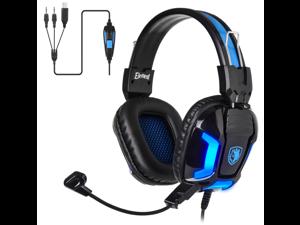 SADES Element Gaming Headset Stereo USB Headphones Brilliant Basses Ultralight For PC/Laptop
