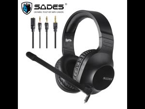 SADES Spirits Gaming Headset Multi-Platform LightWeigth Headphones For PC,Laptop,PS4,XBOX ONE,Mobile,VR,Nintendo Switch (Black)