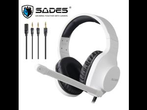 SADES Spirits Gaming Headset Multi-Platform LightWeigth Headphones For PC,Laptop,PS4,XBOX ONE,Mobile,VR,Nintendo Switch  (White)