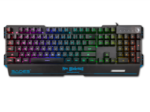 SADES NEO Blademail Gaming Keyboard Membrane 104 Keys Multimedia Wired RGB Keyboard With 5 RGB 7 Colors For PC Gamers