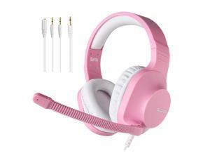 SADES Spirits Gaming Headphones Stereo 50mm Speaker Pink Headset With Microphone Multi-Platform Light Weigth Wired Headphones For PC,Laptop,PS4,XBOX ONE,Mobile,VR,Nintendo Switch