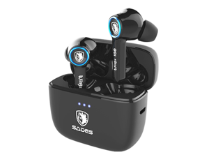 SADES Wings 100 True Wireless Gaming Earbuds With Clear Microphone Low Latency Gaming Bass Audio Blutooth Earbuds With Charging Box For Gamers