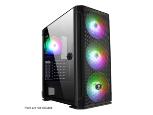 SADES Yu Computer Gaming Case, With USB 3.0 Door Open Tempered Glass PC Case, 8 Fan Positions